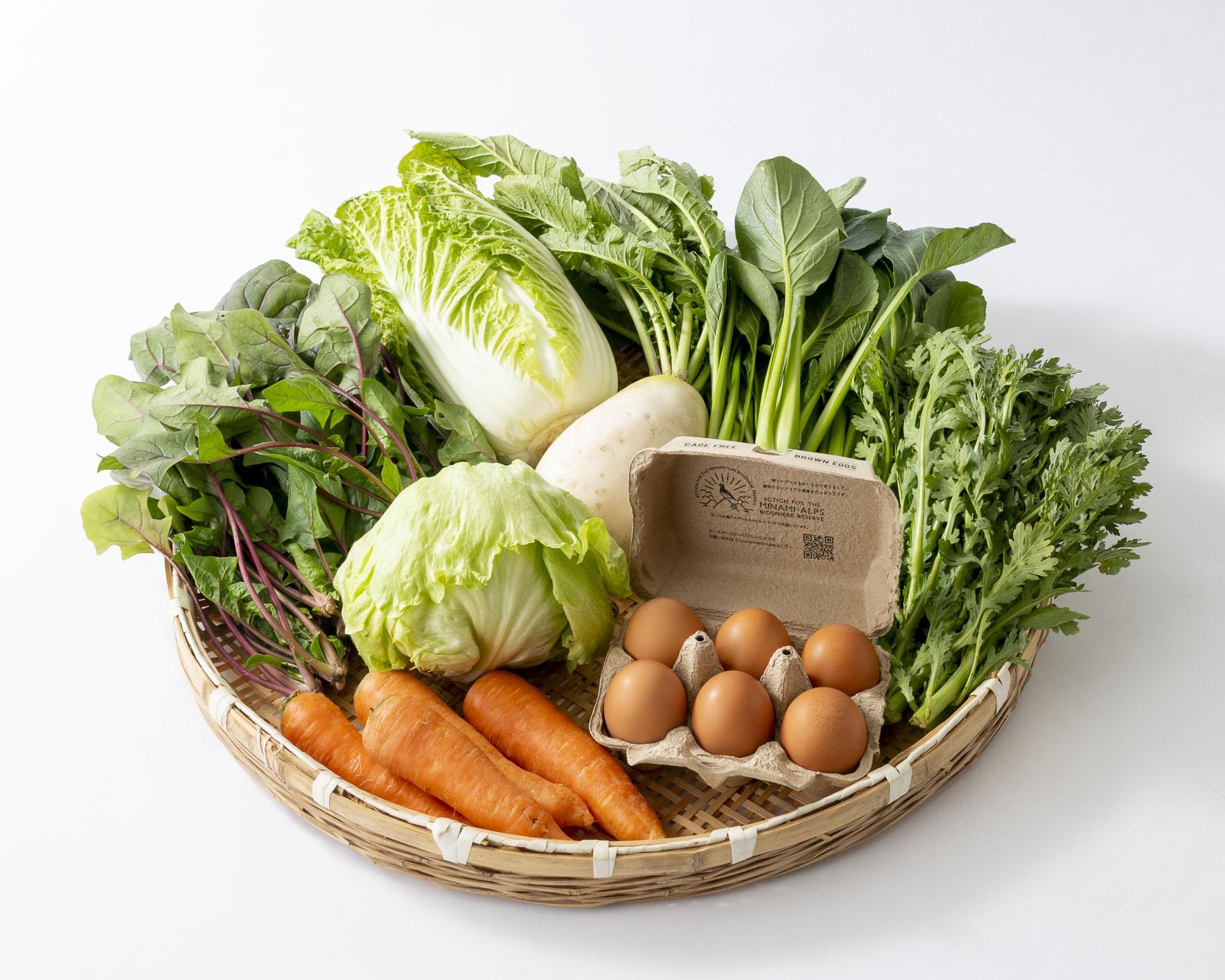 野菜たまごBOX「甲斐駒の恵み」Mセット